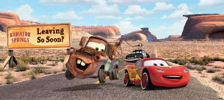 Disney Cars Matter & Mcqueen Panoramic mural wallpaper 202x90cm